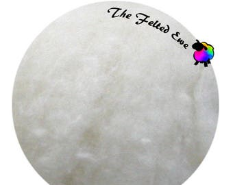 Needle Felting Wool Batt / HFB1 Snowflake Carded Wool Fluffy Batt