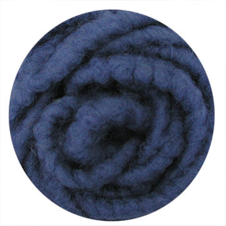 WP11 Indigo Ocean Woolen Wope Sold by the Yard Wool Wrapped Jute Cord