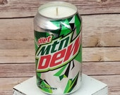 Soy Candle -Diet Mountain Dew Can Soy Candle with Custom Scent - Hand Poured Soda Pop Can Candle