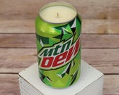 Soy Candle - Mountain Dew Can Soy Candle with Mt Dew Scent - Hand Poured Soda Pop Can Candle