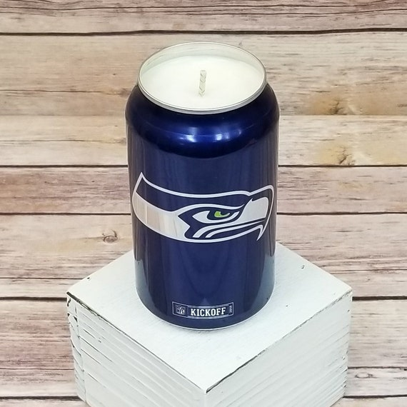 Soy Candle - 2018 Bud Light NFL Seattle Seahawks Team Football Beer Can Soy  Candle with Custom Scent (Can from Canada)
