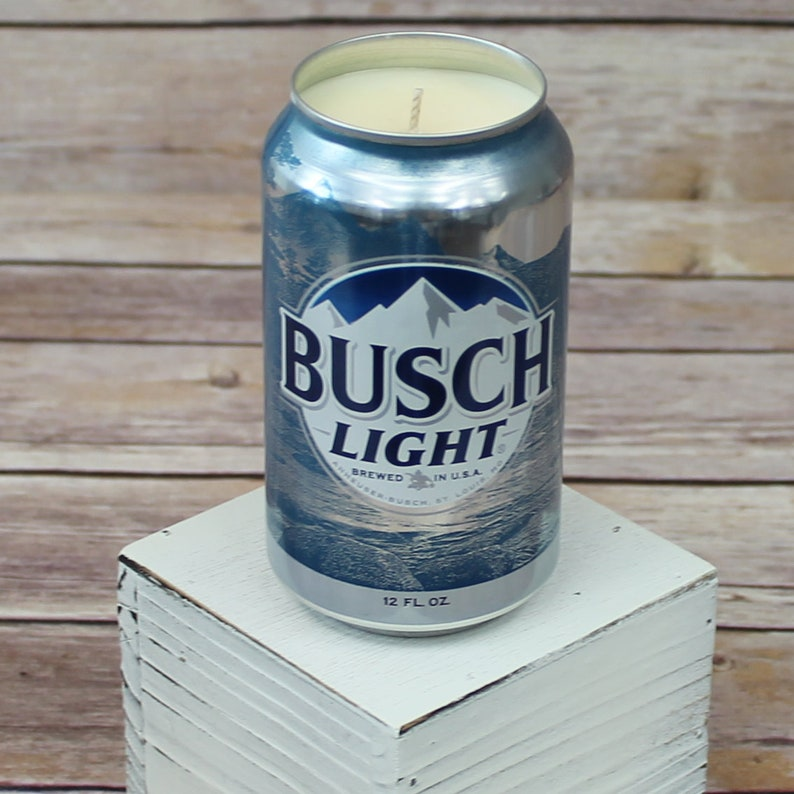 Soy Candle Busch Light Can Soy Candle With Custom Scent Or Etsy