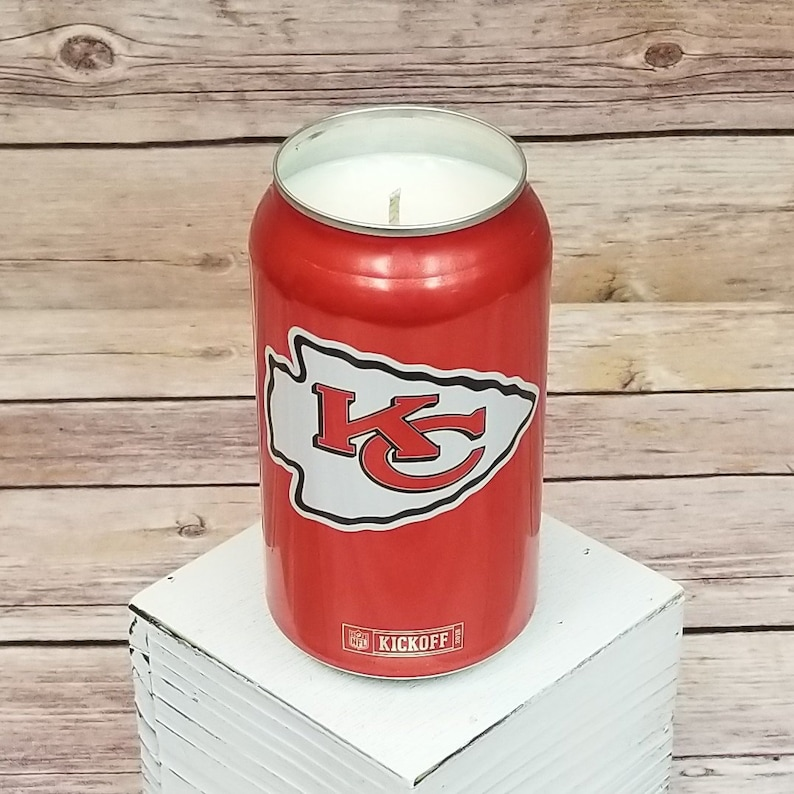 Soy Candle - 2018 Bud Light NFL Kansas City Chiefs Team Football Beer Can  Soy Candle with Custom Scent (Can from Canada)