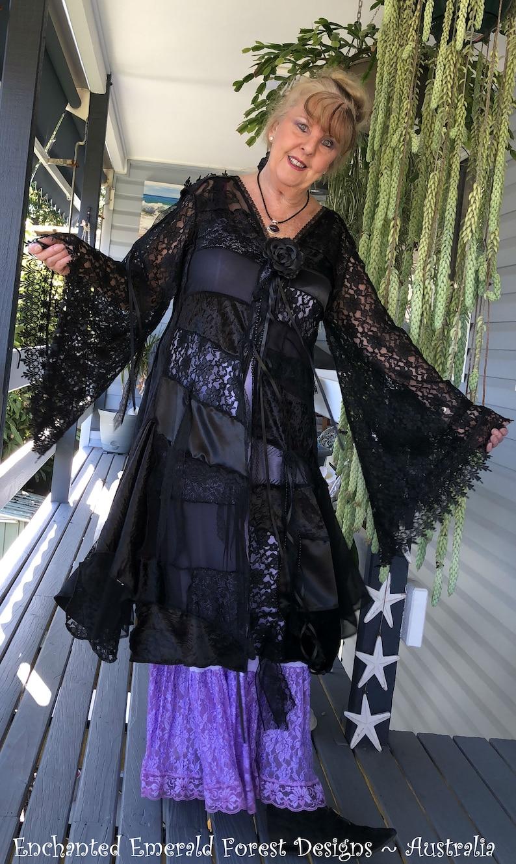 fdcd3822d9b57 Stevie Nicks Style Romantic Bohemian Shabby Chic Black Lace