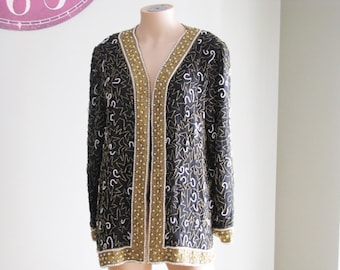 Silk Beaded cover up by Laurence Kazar new with tags