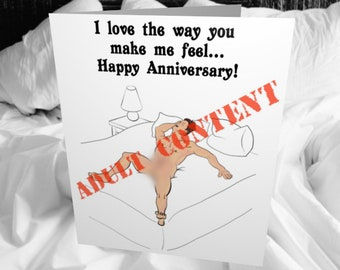 The Way You Make Me Feel, Male Anniversary Greeting Card