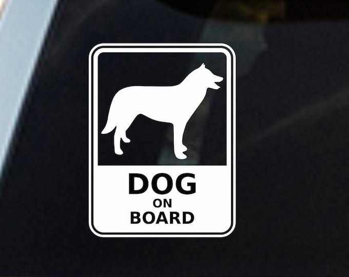 Dog on board decal Dog on Board Sticker - car decal truck sticker window decal dog sticker dog decal