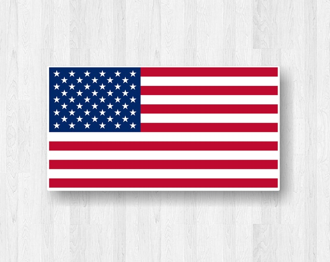 American Flag Sticker American Flag Decal - Red White and Blue Stars and Stripes - Patriotic Car Decal Support USA - United Stats Support