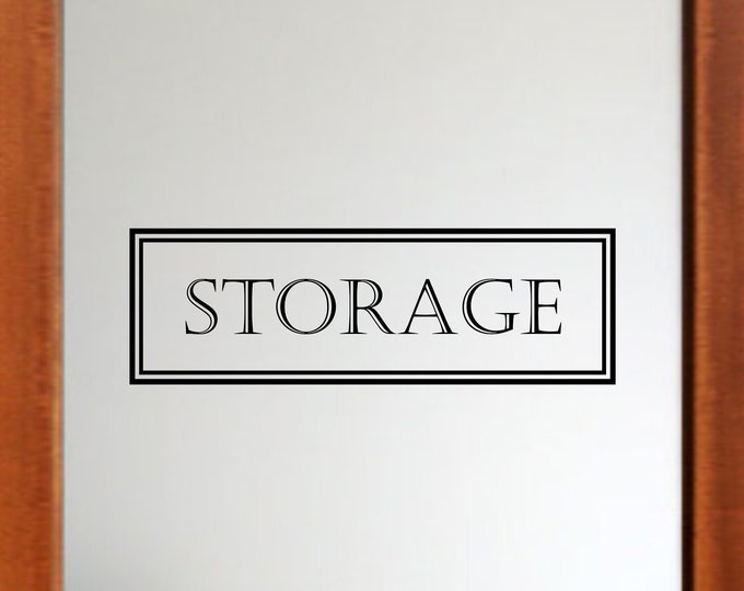 Storage Decal *Choose Size & Color* Storage Door Decal | Vinyl Lettering Text Storage Room Sticker Door Sticker Wall Decal Vinyl Sign