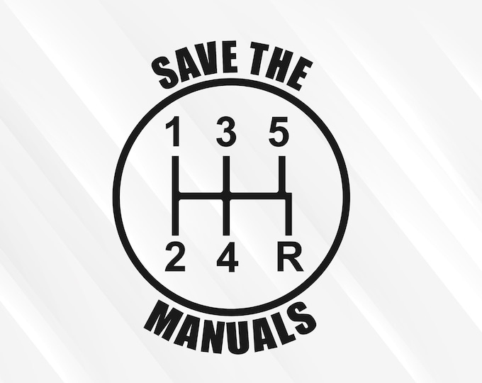 Save the manuals 5 Speed Gear Shift Decal | 5 Speed Diagram 5 Speed Manual Shift Car Truck Stick Shift | Save the manuals Sticker Car Decal