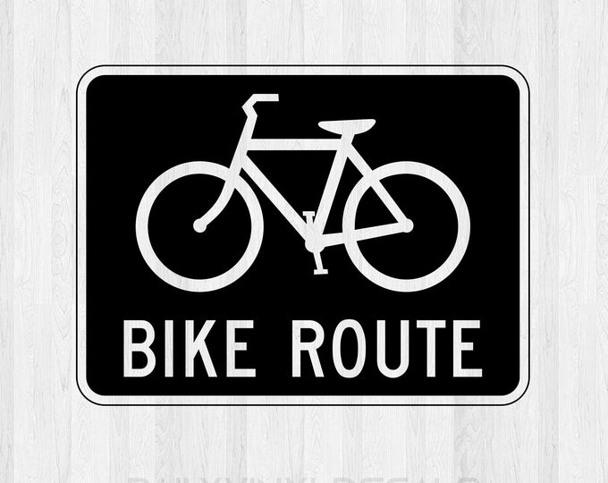 Bike Route Decal Bike Route Sticker *Choose Size & Color* Bike Sign Cycling Decal - Cyclist awareness Bicycle Route Decal Bicycle sticker