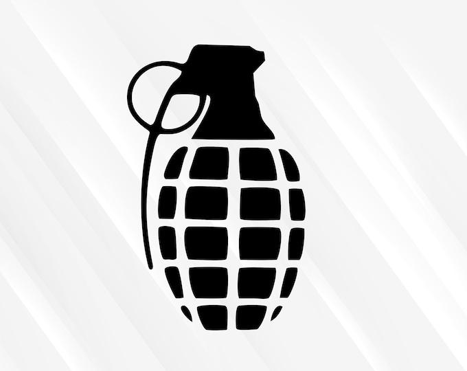 Grenade Decal Grenade Sticker   Di Cut Vinyl Decal Military Decal Military Sticker Combat Arms Car Truck Laptop Decal etc.