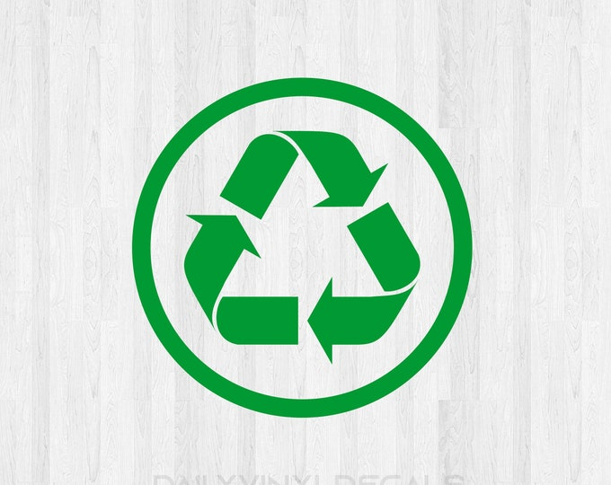 Recycle Circle Decal - Recycle Circle Sticker *Choose Size & Color* Recycle Decal Recycle Sticker - Recycling Symbol Decal Recycling Sticker