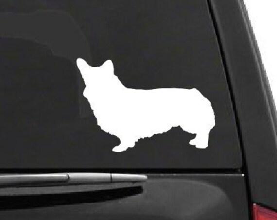 Corgi Decal Corgi Dog Decal Corgi Sticker *Choose Size & Color* Dog Decals - Dog Vinyl Stickers - Corgi Dog Silhouette Decal Decor