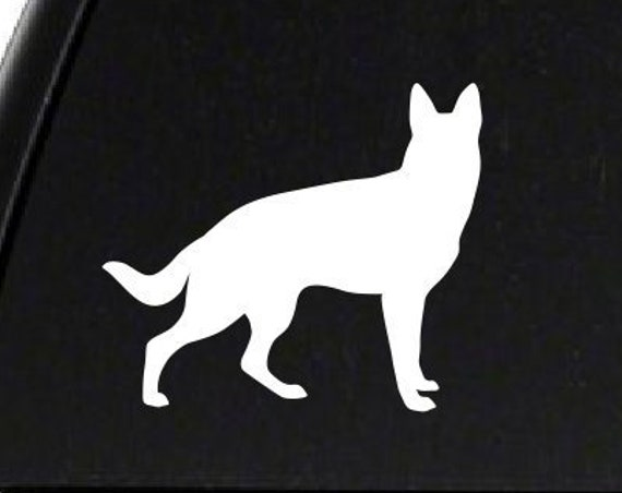 German Shepherd Decal *Choose Size & Color* German Shepherd Sticker - K9 Dog Sticker Animals Pets German Shepherd Dog Decal - Police Dog