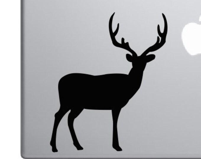 Deer Vinyl Decal *Choose Size & Color* Deer Silhouette Vinyl Decal - Big Buck Rack Antlers Big Game Hunting - Vinyl Decals Stickers