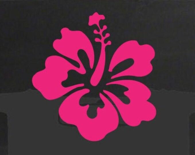 Hibiscus Decal *Choose Size & Color* Hibiscus Sticker Hibiscus Flower Sticker - Car Truck Laptop Macbook Decals Hawaiian Flower Decal