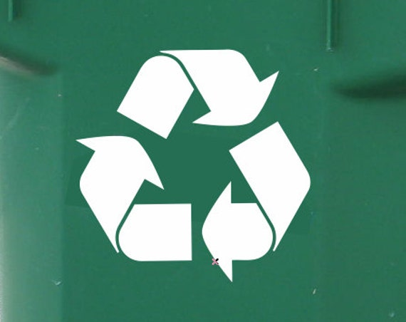 Set of 2 Recycle Symbol Vinyl Decals - Recycle Decals *Choose size & color* Recycle Stickers - Go Green - Recycling Stickers