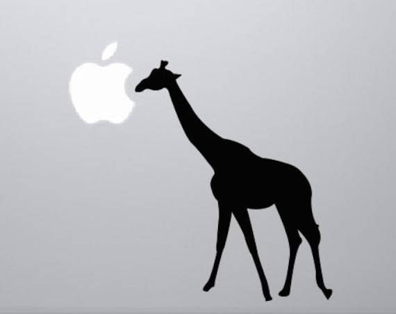 Giraffe Decal Giraffe Silhouette Sticker - Giraffe Sticker Animal Stickers Laptop Decal - Animal Decals Laptop Sticker