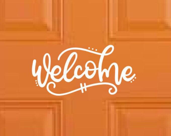 Welcome Door Decal Welcome Sticker | Welcome Decal Welcome Sticker - Door Wall Sticker etc - Choose Size & Color
