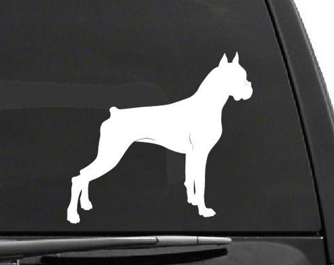Boxer Dog Decal *Choose Size & Color* Boxer Decal Boxer Sticker - Dog Stickers - K9 Animal Decals Pet Stickers - Boxer Breed Dog Decor