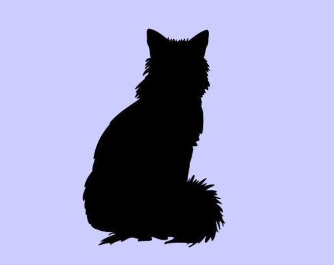 Cat Decal Cat Sticker *Choose Size & Color* Cat Silhouette Decal Kitten Sticker Kitten Decal - Pets Animals Kitten Feline Cats