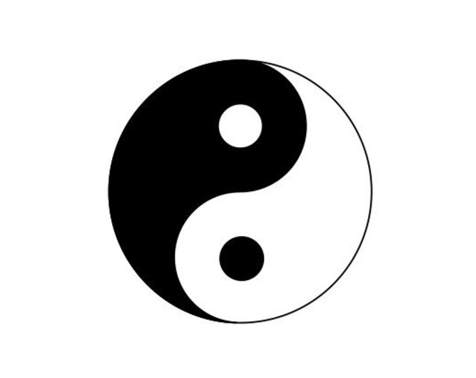 Set of 2 Yin Yang Decals - Yin and Yang Decals - Yin and Yang Sticker - Car Decal Laptop Decal Symbol Sticker Symbol Decal Equal Power