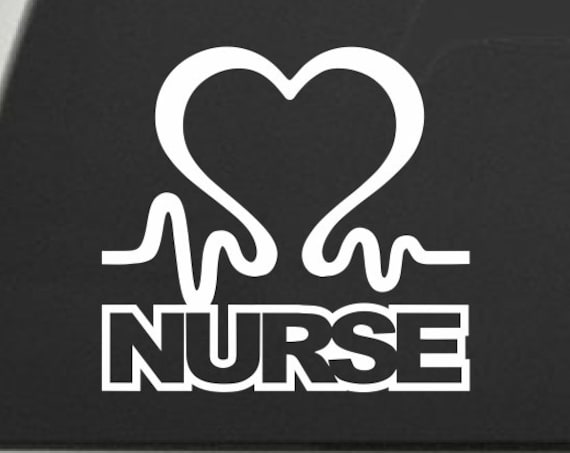 Nurse Decal Nurse Sticker - Nurse Love Decal Registered Nurse RN Decal Healthcare Heart EKG Decal Heart Decal - Support Our Nurses