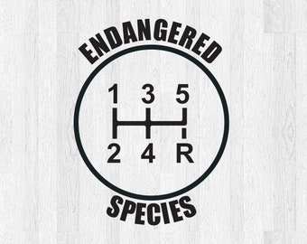 5 speed endangered species gear shift decal - 5 speed diagram - manual  shift car stick shift manual transmission car decal truck decal