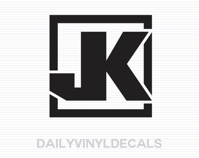 Jeep JK Decal - Jeep JK Sticker - Jeep Decals Jeep Stickers - JK Model Jeep Wrangler Decal - Off Road Truck Decals Vehicle Stickers