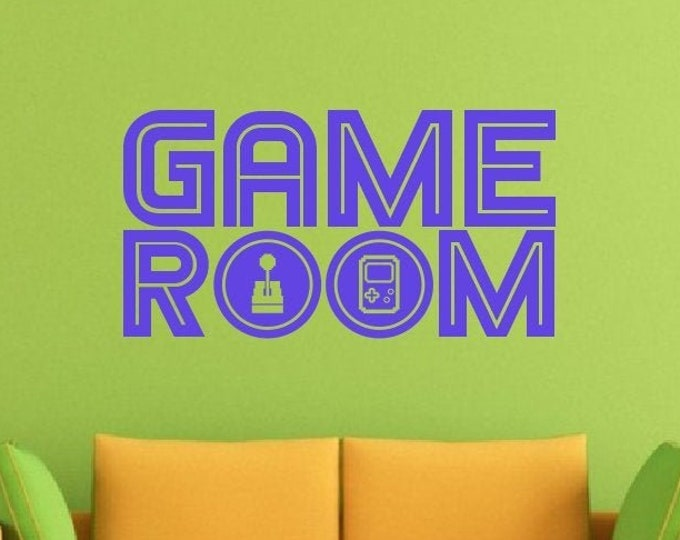 Game Room Decal - Game Room Sticker *Choose Size & Color* Game Room Wall Decals - Gamer Decal Gamer Sticker Gaming Vinyl Wall Decal