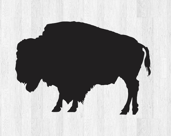 Buffalo Decal Buffalo Sticker *Choose size and color* Buffalo Silhouette Decal Silhouette Sticker - Car Laptop Cell Phone Computer Decal Etc