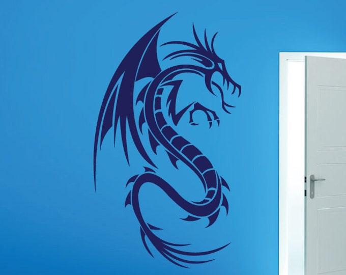 Dragon Wall Decal Dragon Decal *Choose size & Color* Dragon Vinyl Decal Dragon Design Wall Art Medieval Dragon Di Cut Game of Thrones Decal