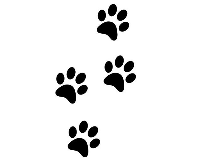 2 Pack Paw Print Trail Decals *Choose size & color* Paw Print Trail Sticker - Paw Print Decal Paw Print Sticker - Car Decal Laptop Decal