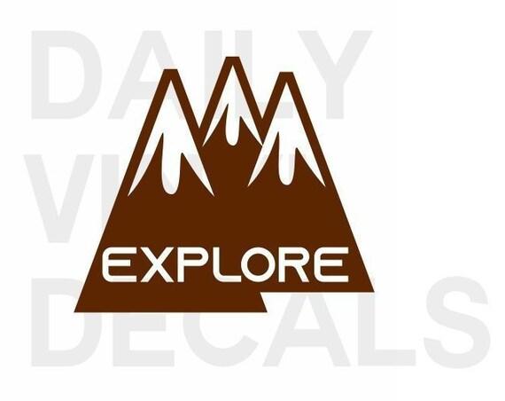 Explore Vinyl Decal *Choose Size & Color* Explore Decal Explore Sticker - Hiking Outdoor Exploration Mountain Trails Climbing Hills etc