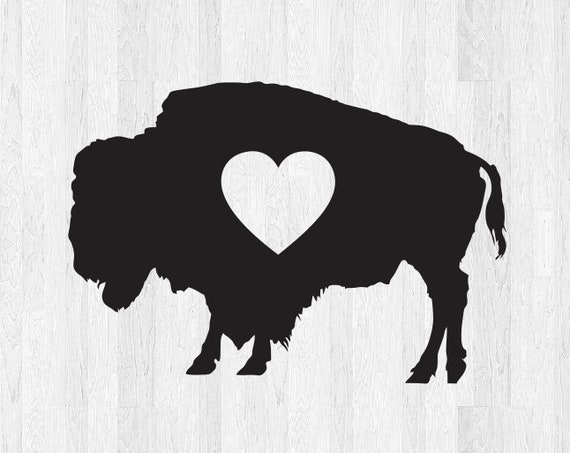 Buffalo Heart Decal - Buffalo Heart Sticker - Buffalo Love Decal Buffalo Decal Buffalo NY Decal Car Truck Home Laptop Electronics Decals etc