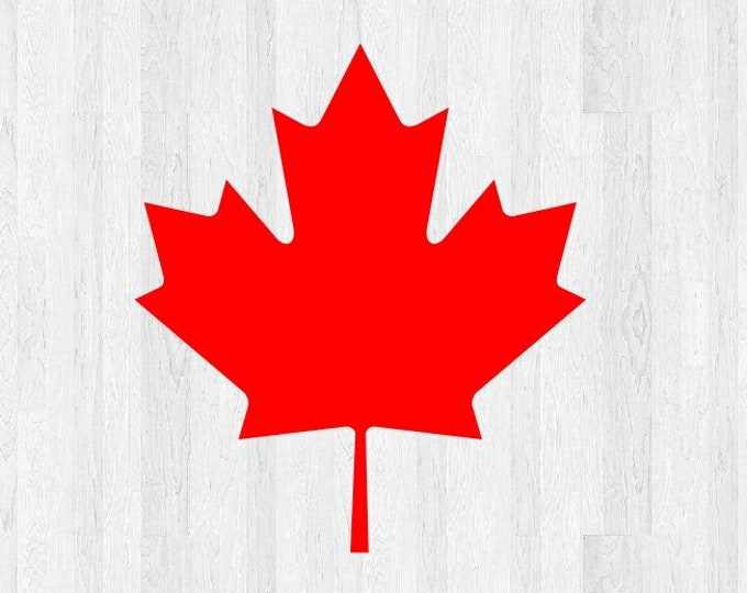 Canada Maple Leaf Decal - Maple Leaf Sticker - Canadian Maple Leaf Decal - Car Truck Home Laptop Electronics Decals etc.