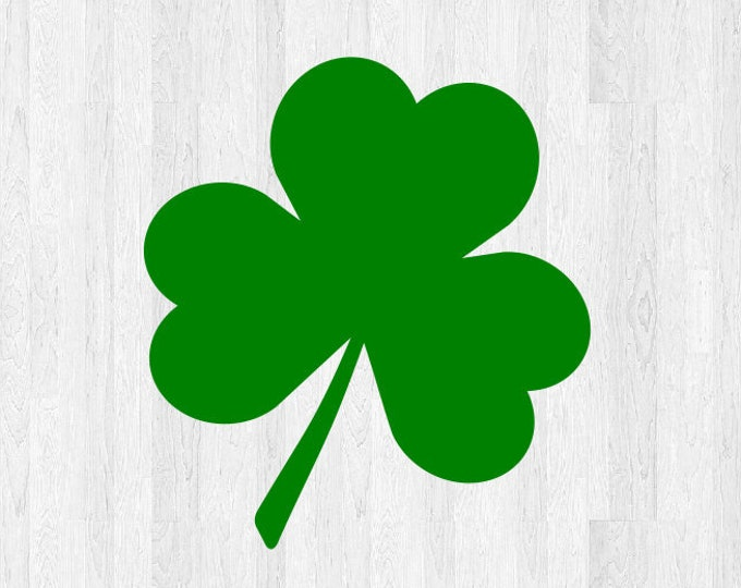 Set of 2 Shamrock Decals - Shamrock Stickers 3 Leaf Clover Decal Clover Sticker - Irish Celtic Lucky Clover St Patricks Day