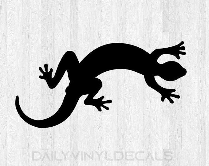 Gecko Decal - Gecko Sticker *Choose size and color* Lizard Sticker Lizard Decal - Car Laptop Cell Phone Computer Decal Etc.