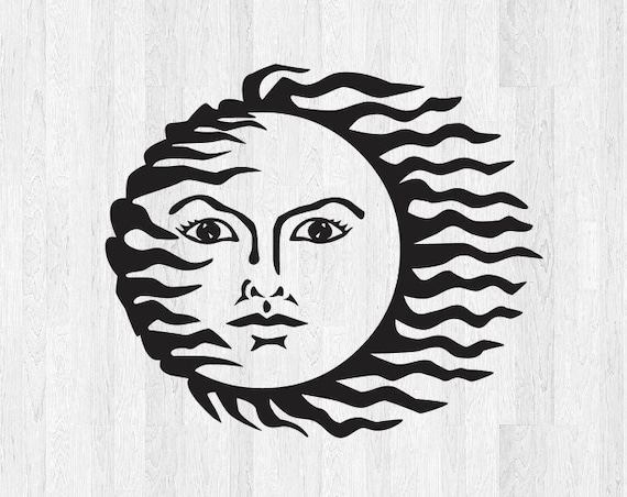Sun Face Decal - Sun Decal Sun Sticker Di Cut Vinyl Decal - Summertime Beach Decal Summer Decal Car Truck Laptop Decal etc.