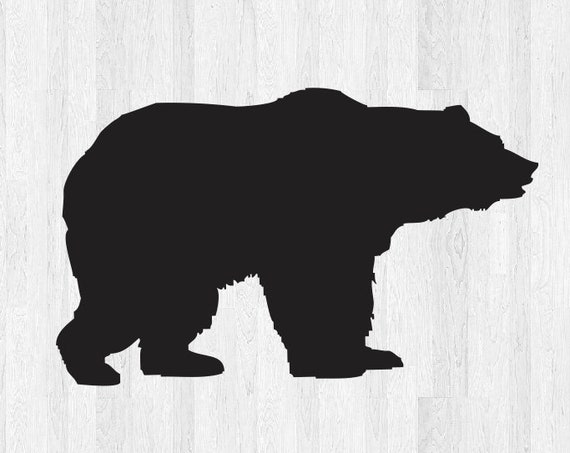 Bear Decal Bear Sticker *Choose size and color* Bear Silhouette Decal Silhouette Sticker - Car Laptop Cell Phone Computer Decal Etc