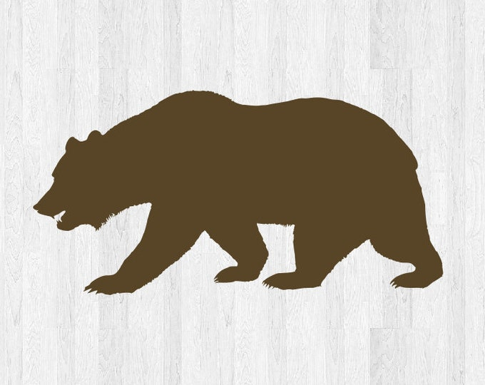 Bear Decal Bear Sticker Bear Silhouette Decal Silhouette Sticker - Car Laptop Cell Phone Computer Decal Etc. Animal Decals Animal Stickers