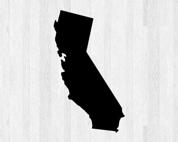 California State Decal - California Decal - State Sticker California State Outline Di Cut Vinyl Decal Car Truck Laptop Decal etc.