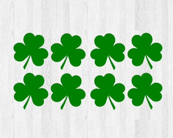 8 Pack Shamrock Decals Shamrock Stickers - Clover Decals Clover Stickers Irish Ireland St Patricks Day 3 Leaf Clover 4 Leaf Clover Decal