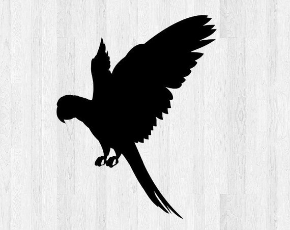 Parrot Decal Parrot Sticker - Parrot Silhouette Di Cut Decal Pet Animal Silhouette Bird Decal Bird Sticker Car Truck Laptop Decal etc.