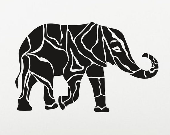 Elephant Decal Elephant Sticker *Choose Size & Color* Artistic Animal Decals Animal Decal Animal Car Decal Elephant laptop decal