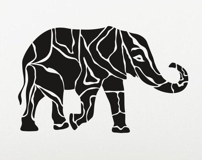 Elephant Decal Elephant Sticker *Choose Size & Color* Artistic Animal Decals Animal Decal Animal Car Decal Elephant laptop decal