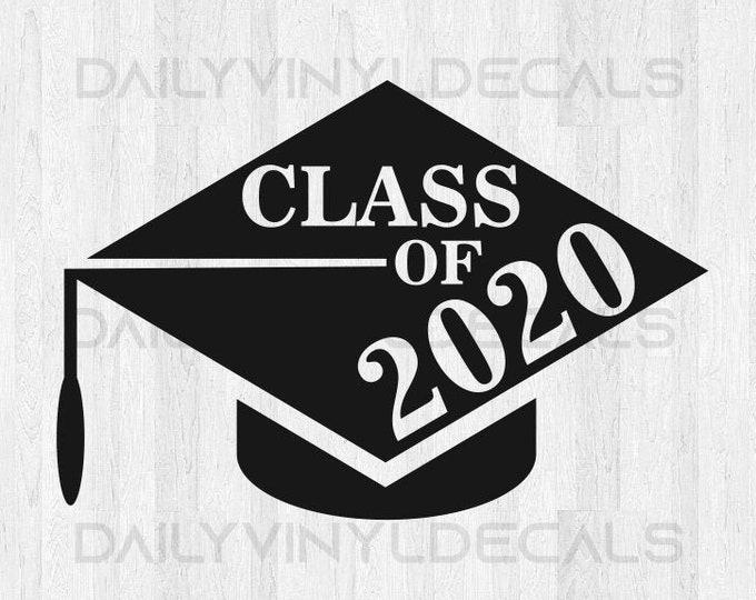 Class of 2020 Decal - Class of 2020 Senior Vinyl Decal - Graduation Decal - Class of 2020 Sticker Car Window Sign Wall Decal etc.