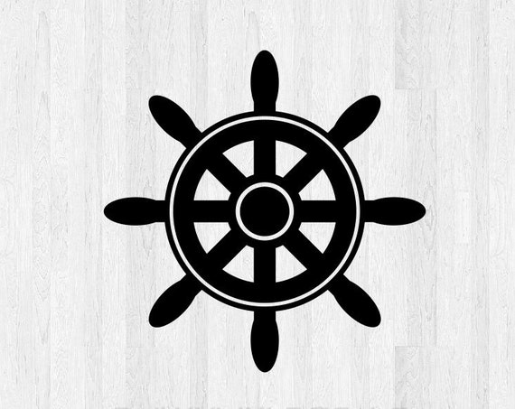 Boat Steering Wheel Decal - Ship Steering Wheel Decal - Sailboat Wheel Sailboat Decal Sailboat Sticker - Car Truck Laptop Decals etc.