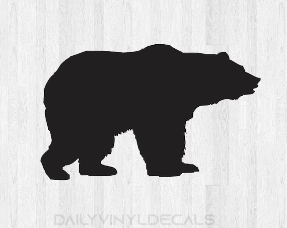 Bear Decal Bear Sticker *Choose size and color* Bear Silhouette Decal Silhouette Sticker - Car Laptop Cell Phone Computer Decal Etc.